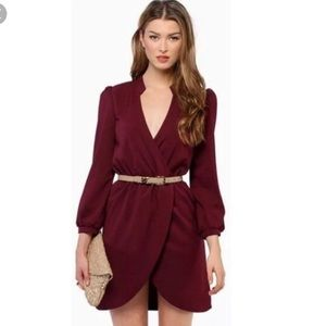 Burgundy tulip dress